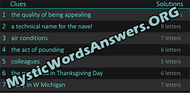 The main food in Thanksgiving Day 6 letters   Word Bots