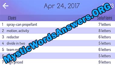 april 24 mystic words