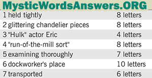 January 18 7 little words bonus answers