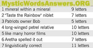 Long-winged petrel relative 10 letters - 7 Little Words