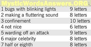 Making a fluttering sound 8 letters - 7 Little Words