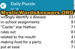 Wrongly Identify A Disease 11 Letters 7 Little Words