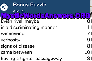 August 15 7 little words bonus answers