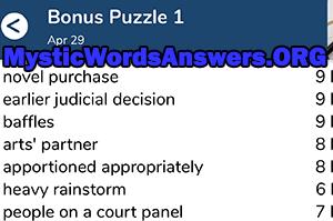 Baffles 7 Little Words Bonus