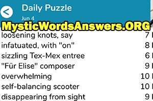 Loosening knots, say