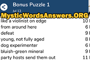 Defeat 7 Little Words Bonus