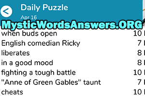 April 16th 7 little words answers