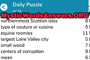 July 24th 7 little words answers